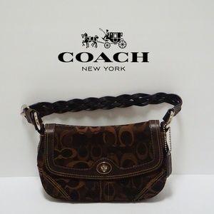 Coach jacquard brown mini bag G0794-10992